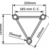 K23 Tri Spigot Truss (220mm) sketch